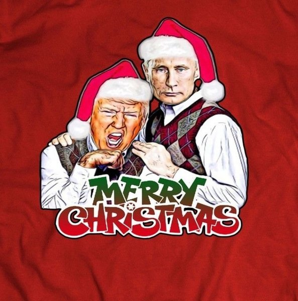 Christmas Trump Funny.Trump And Putin Funny Merry Christmas Oldskool Men T Shirt Full Front Tees Custom Jersey T Shirt Cool Tee Designs Tees Shirts Cheap From Teecup