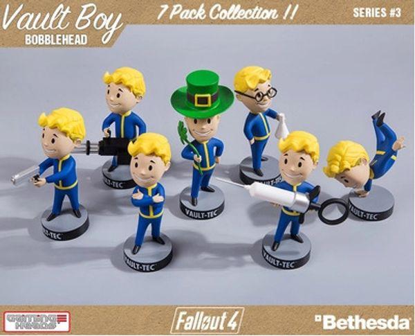 7 Adet Kafaları Fallout 4 Vault Boy 2 Nesil Bobbleheads Serisi PVC Action Figure Oyuncaklar 13 Cm