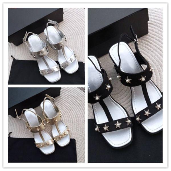 Top-Edition Luxus-Damenschuhe Importierte gute Material Perle aus Rindsleder schmückt Vamp Damen Sandalen mit hohem Absatz
