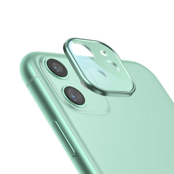 New para IPhone 11 pro max montura de la lente de la cámara de metal trasera de la cubierta completa de la pantalla de vidrio templado película protector ultra fino
