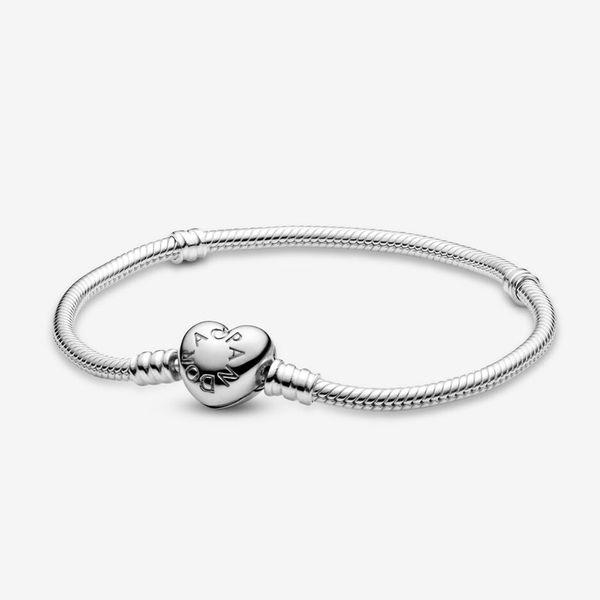 2020 New Fashion Luxury Designer Femmes Pandora Charms anillos de Moments Bracelets serpent Bracelet chaîne Coeur fermoir Lady cadeau d'anniversaire