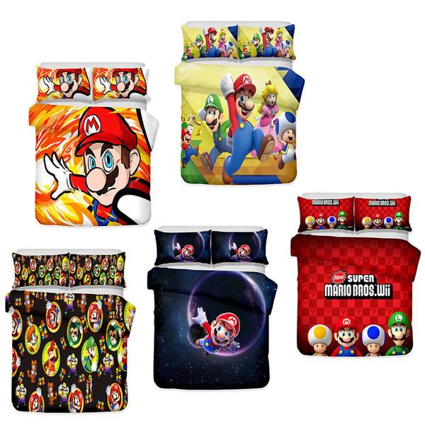 Acheter Ensemble De Literie 3d Super Mario Bros Housse De Couette Taie Doreiller De 1106 Du Milsleep Dhgatecom