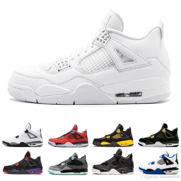 Royalty 4 4s Günstige Herren Basketball Schuhe Sneakers Single Day Tattoo Raptors Classic Herren Alternative Motorsport White Cement Sportschuhe