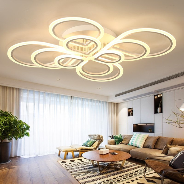 Großhandel Moderne Acryl Led Deckenleuchten Wohnzimmer Schlafzimmer  Esszimmer Aufbau Hause Leuchten Plafonnier Led Moderne Von Goddard, $92.85  Auf ...