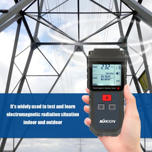 강렬 악기 전자기 방사선 탐지기 Kkmoon 핸드 헬드 디지털 LCD EMF 미터 전자기 방사선 시험기 전기 ...