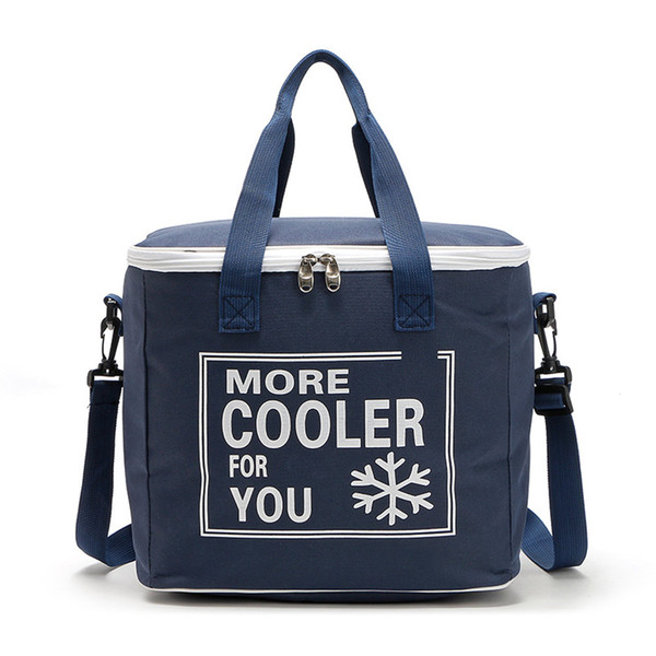 20L Outdoor Picnic Bag Cooler Bags Oxford Cloth Waterproof Insulation Lunch Cold Box ZJ55
