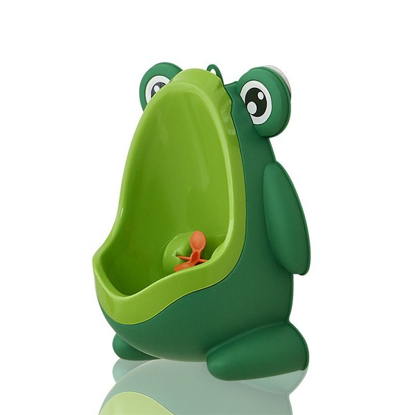 top popular Kids PP Frog Children Stand Vertical Urinal Wall-Mounted Urine Potty Groove Kids Baby Boys Urinal New Wall-mounted Training Toilet Z0774 2021