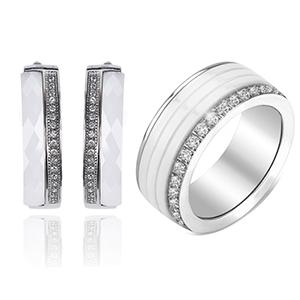 Metal color:White&Ring Size:9