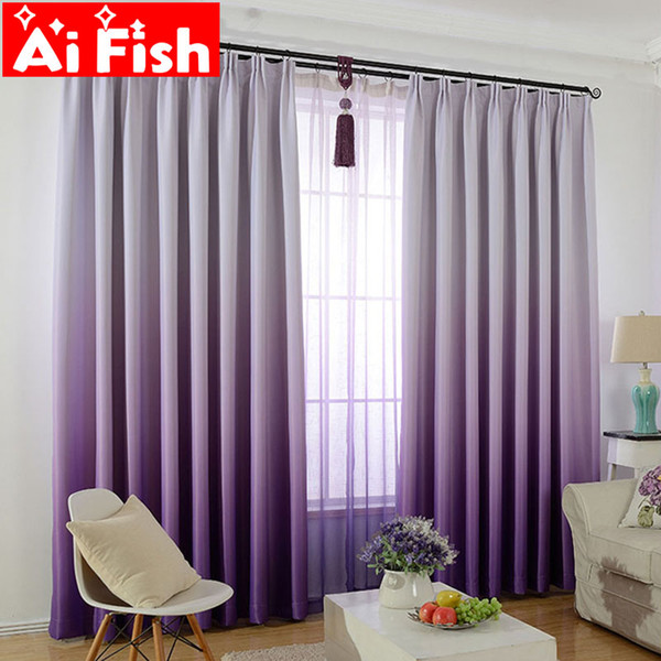 2019 Purple Gradient Shade Curtains For Living Room Romantic Wedding Room  Pink Bedroom Tulle Solid Gradient Shade Fabric DF007 30 From Stunning88, ...
