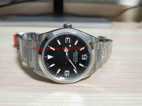 Luxo de Alta qualidade BP Relógios De Pulso Explorador 214270-77200 214720 39mm Aço Inoxidável Ásia 2813 Movimento Automático Mens Watch Relógios