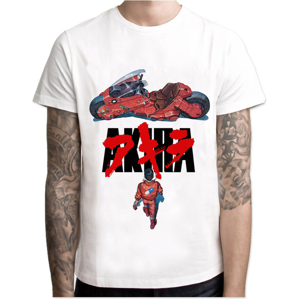 Fashion T Shirt Men Neo Tokyo Street Men Design Akira Shirt Short Sleeve Japanese Anime Party Vintage Men'S Tops Humorous Shirts Buy Tee Shirts From