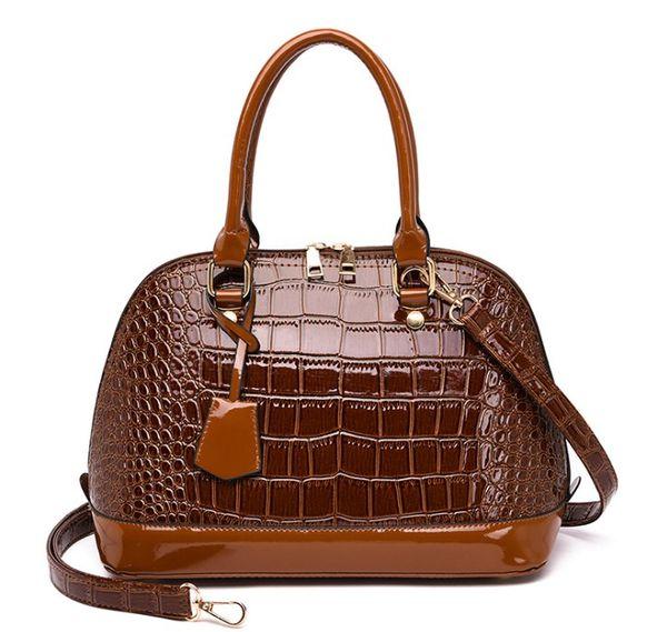Rot schwarz lackleder handtasche krokodil einkaufstasche umhängetaschen handtaschen frauen berühmte designer sac a main femme mehr farbe