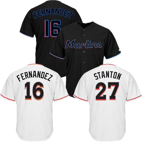brand new 6496a 621b6 Miami Marlins Baseball Jerseys 16 Jose Fernandez 27 Stanton High Quality  Embroidery Cheap Jerseys Breathable Absorbent Men'S Shirts UK 2019 From ...