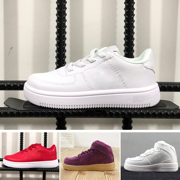 Nike air max force fly 2019 Volt 1 Skate Boarding 1 Baskets Basses Sport Baskets Mode Enfants Blanc Noir Jaune Fluorescent Chaussure de sport de loisir