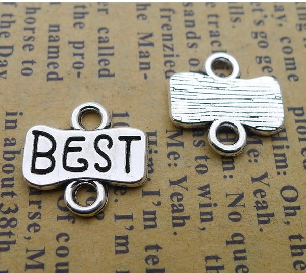LD001 13*13mm alloy BEST connection button antique silver jewelry accessories retro 200/pack 0.9g