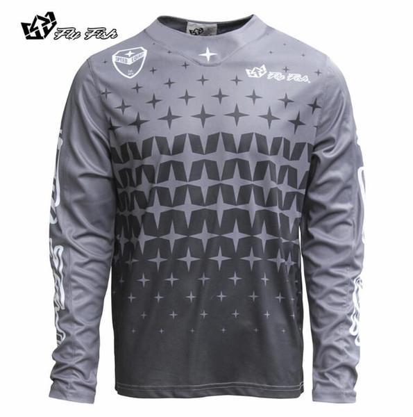 Wholesale New 2018 Downhill long sleeve jerseys outdoor bike mountain bike off - road motorcycle jerseys T-Shirt