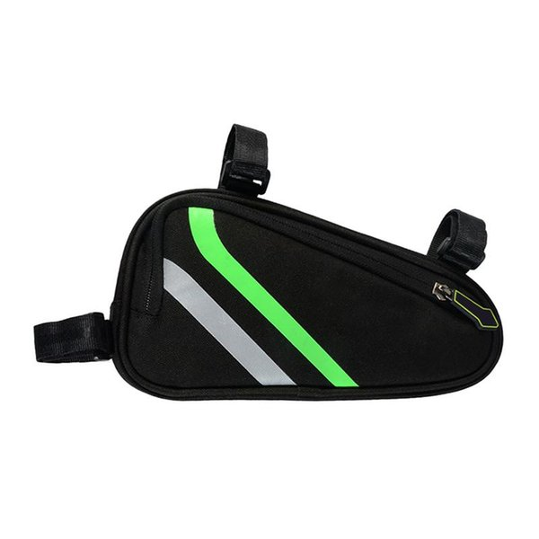 Bicycle Triangle Bag Front Tube Rack Saddle Bag Double Zipper Design Waterproof Bicycle Tool Storage Box Riding Accessories