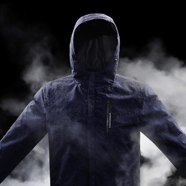 2019 Spring Autumn Waterproof Windproof Jacket Men Casual Breathable Hooded Coat Outwear Raincoat Windbreaker Jackets