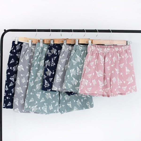 Estate 2019 New Cotton Couple Home Pantaloncini Pigiama Pantaloni Salotto Dormire Pijama Pigiama Pantaloni Donna Pajama Bottom
