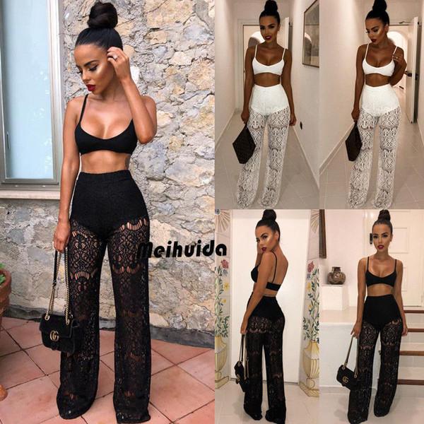 Women Ladies Jumpsuit Crop Top Long Pants 2 Piece Set Outfits Casual Playsuit