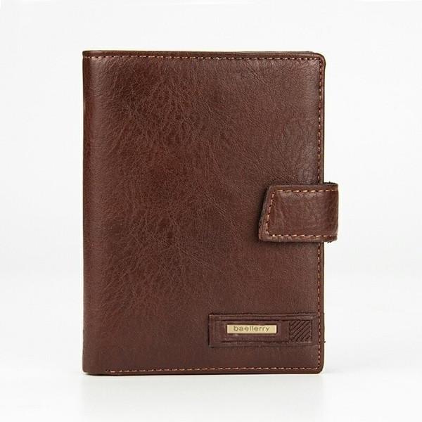 Vintage Men Short Wallet Genuine Leather Card Holder Man Purse Hasp Coin Pocket Card Passport Holder Male purse Driver License #529034