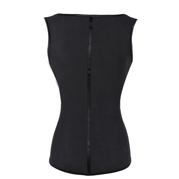 Black 4 Rows Hooks Latex Waist Cincher Body Shaper Steel Bone Corset Slimming Vest Waist Trainer Plus Size Girdle Belt