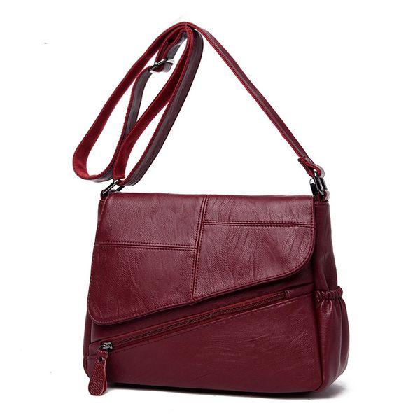 New Female leather Messenger Bags Feminina Bolsa Leather Luxury Handbags Women Bags Designer 2018 Sac a Main Ladies Shoulder Bag