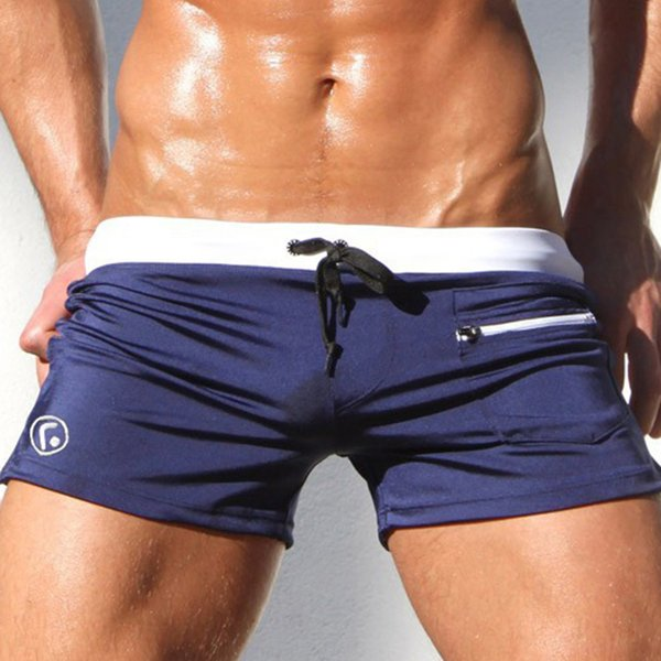 Mens Swim Trunks Swimming Shorts Body Bikini Swimsuit Swimwear with Pocket M =Waist:27-31, green