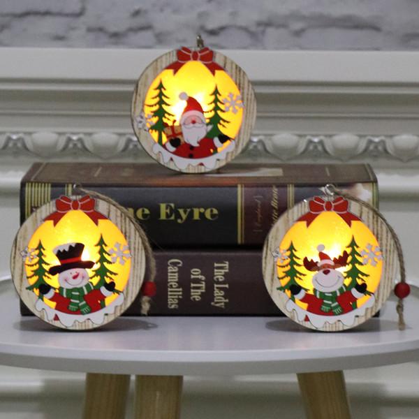 Дерево светодиодный свет светящийся подвесной декор Рождественская елка украшения рождественские цвета лося Рождество ночник аксессуары