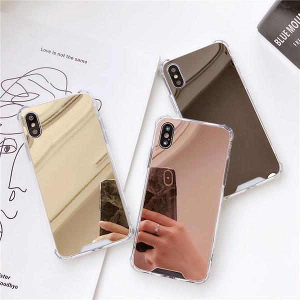 Aplicable anti-caída iphoneX teléfono móvil iphone8plus cubierta de protección de airbag 7 / 6S espejo de color sólido todo incluido soft shell