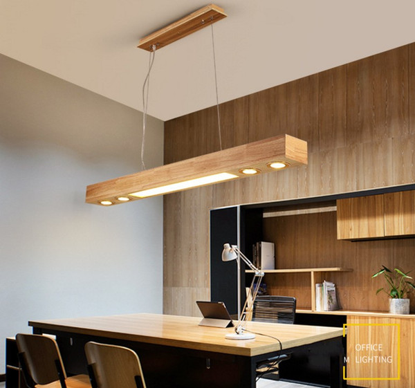Acheter Led Lustre En Bois Massif Simple Bar Moderne Lampe Famille Rectangulaire Bureau Lampe De Salle à Manger Llfa De 258 58 Du Volvo Dh2010