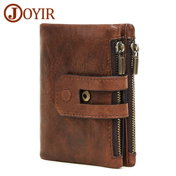 designer Wallet Men Leather Genuine Vintage Coin Purse Small Perse Solid Rfid Card Holder Carteira Hombre european gifts for Fashion Best