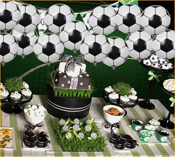 50pcs Party Balloons Creative Soccer Shaped Foil Balloons Mylar Balloons For Party Decoration 18'' Q190429