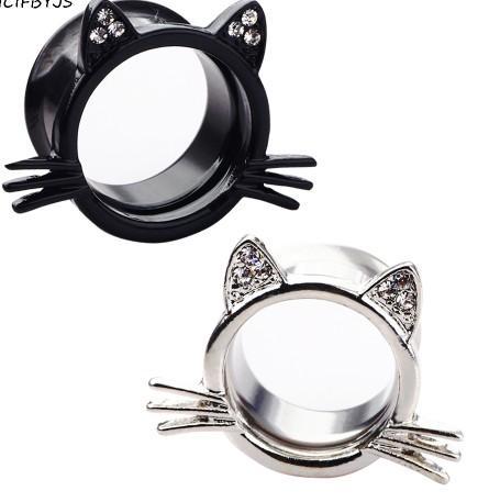 Stainless Steel Flesh Tunnel Ear Plug Sexy Women Men Body Jewelry Piercing Earring Expander Stretcher Gauge 80PCS
