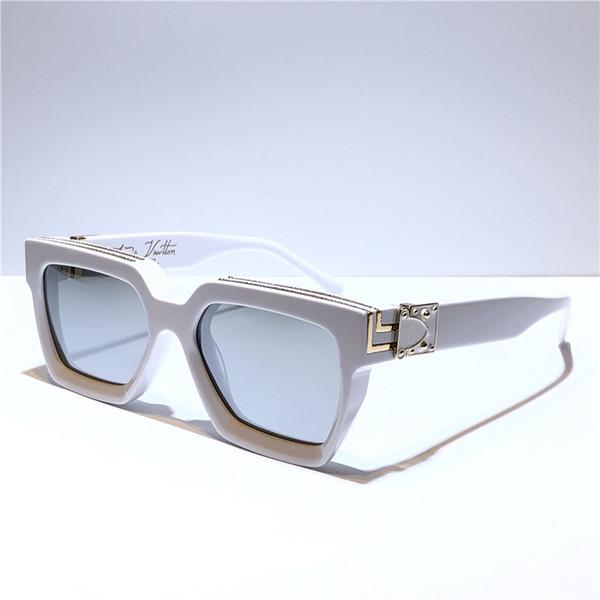 الأبيض مع الفضة عدسة مرآة