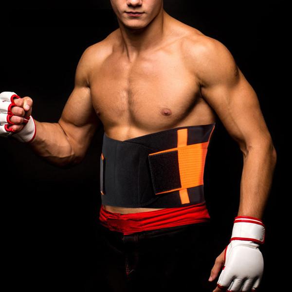 Men Women Neoprene Lumbar Waist Support Waist Trimmer Belt Unisex Exercise Weight Loss Burn Shaper Gym Fitness Belt Sweat