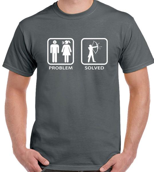 Tiro com arco - Problema resolvido - T-shirt engraçado dos homens Arco Arrow Target Target Club Engraçado frete grátis Unisex Casual Tshirt top