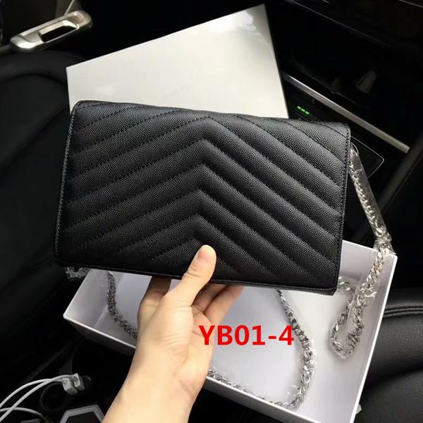 Cadena YB01-4 Caviar negro Plata