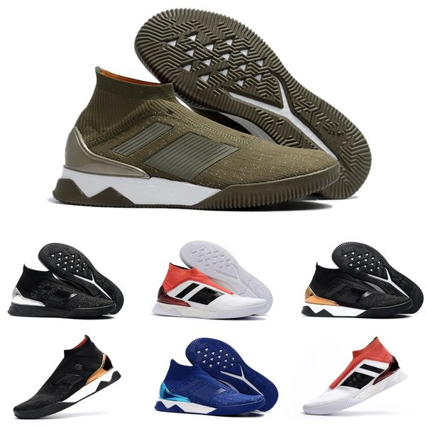 2018 top quality mens soccer cleats Predator Tango 18+ TF IC high ankle soccer shoes tango 18 indoor football boots scarpe calcio Cheap