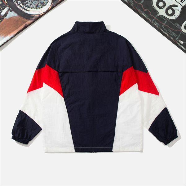 Mens mulheres designer blusão à prova de sol com zíper marca jaquetas com capuz patchwork frágil leve esportes correndo casacos manga longa ljj98302