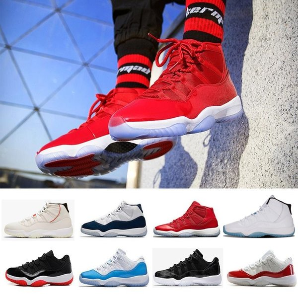 New 11 11s high s low le Basketball Shoes Men Women Gym Red Black White 11s Legend Cap and Gown Concord 23 45 Rose red Blue j11 Sneakers