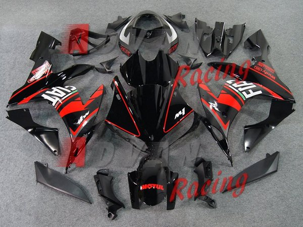 3Gifts New Injection Fairing kit fit for YAMAHA YZFR1 04 05 06 YZF R1 2004 2005 2006 YZF1000 Motorcycle ABS Fairings set custom black red