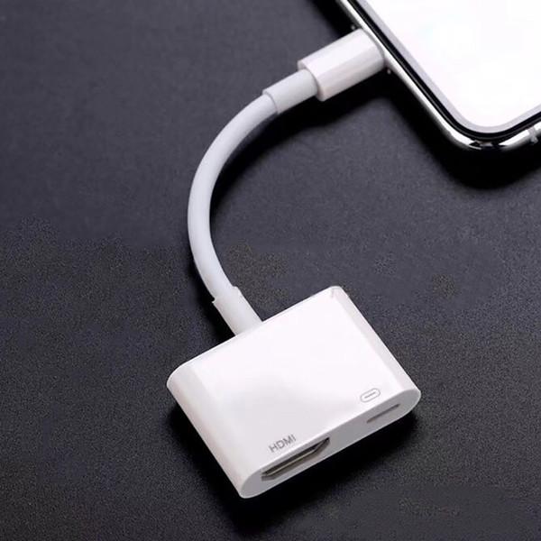 Pour iphone vers numérique AV Câble HDMI Pour adaptateur iP vers HDMI Connecteur Adaptateurs 1080P HD Pour Iphone X 8/7/6