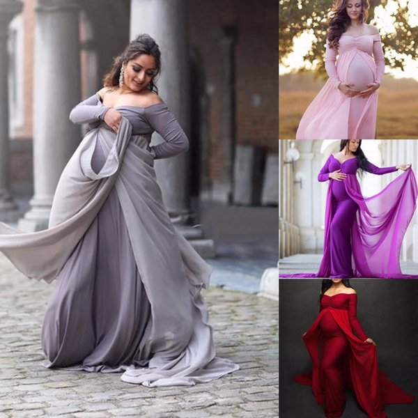 17cc559a3ff7d Newest Maternity Photography Props Dresses For Pregnant Women Clothes  Maternity Dresses For Photo Shoot Pregnancy Dresses