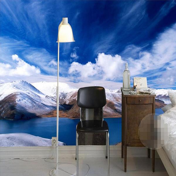Compre Custom 3d Photo Wallpaper Snow Mountain Nature Landscape Fotografía De Fondo Pintura De Pared Mural Wallpapers For Living Room A 3619 Del