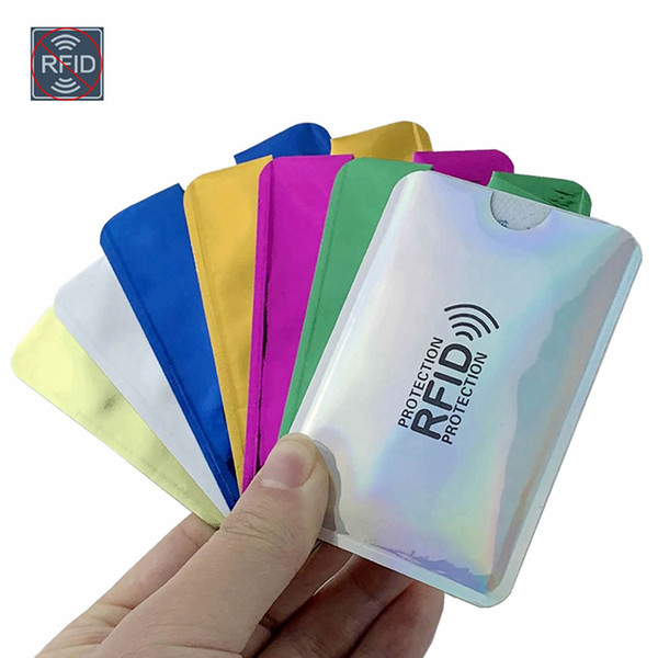 Aluminio Anti Rfid Bloqueo Lector Bloqueo Titular de la tarjeta bancaria ID Tarjeta bancaria Funda de protección 6 colores Precio al por mayor