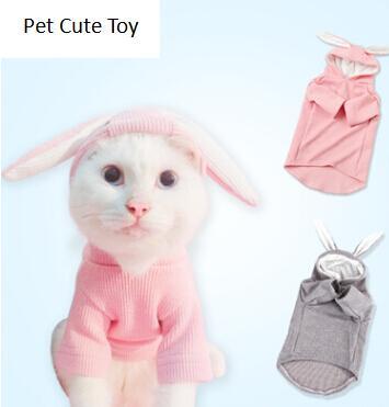 Nette Kaninchenohren-Haustier-Katze Hoodie-Frühlings-Herbst-Hundekatze-Kleidung kreative reizende Welpen-Kätzchen-Mantel