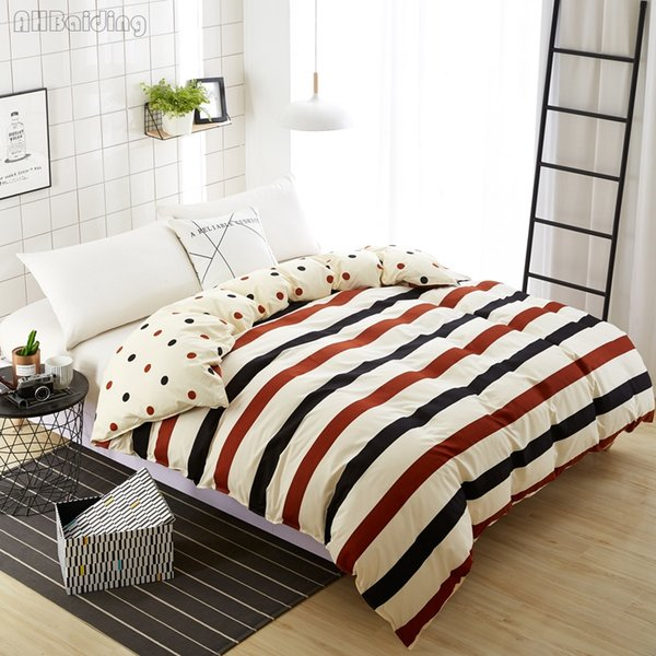 Home Textile Yellow Plaid Stripes Duvet Cover 1 Piece Quilt Cover with Zipper Comforter Twin Full Queen Size Free Shipping