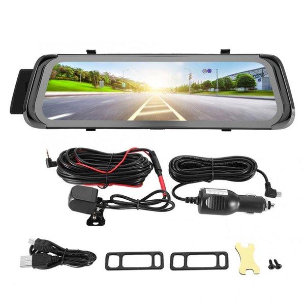 10 zoll 1080 P Auto DVR Video Recorder Kamera Fahren Recorder Rückspiegel Nachtsicht autozubehör Dash Kamera