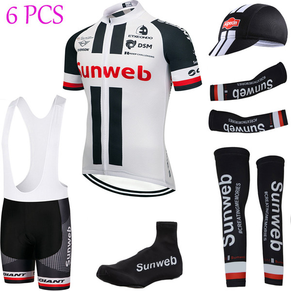 best selling UCI Tour de France Team 2019 SUNWEB cycling jersey 20D pad bike shorts set summer quick dry bicycle warmers clothing